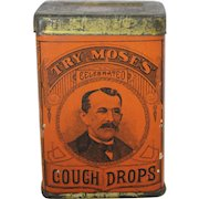 """""""Try Moses"""" Celebrated Cough Drop Tin"""
