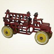"""Rare Cast Iron """"Kenton"""" Fire Ladder Truck"""