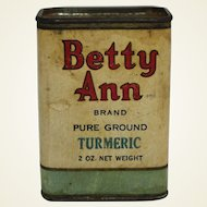 """Vintage """"Betty Ann"""" Spice Container"""