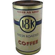 """Vintage """"Good As Gold"""" 18-K Brand Coffee Tin"""