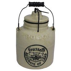 Grasselli Arsenate of Lead Stoneware Crock