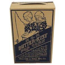 Vintage H & H Butter-Kist Pop Corn Box