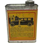 """Vintage """"Frank Miller's"""" Auto Wax Litho Tin"""