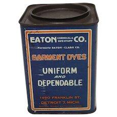 Vintage Eaton's Garment Dyes Tin