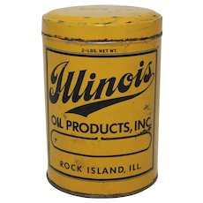 "Vintage ""Illinois Oil Products"" Grease Can"