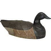 Vintage Will Mosley Canvas Covered Hunting Decoy