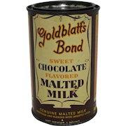Goldblatt's Bond Chocolate Malted MIlk Tin