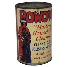 """Vintage Sample """"POWOW"""" Cleanser Container"""