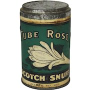 "Vintage ""Tube Rose"" Scotch Snuff Tin"