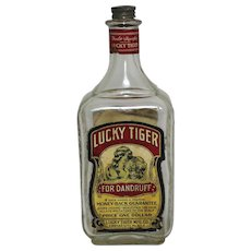 "Vintage Bottle of ""Lucky Tiger"" Hair Tonic"