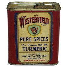 "Early 1900's  ""Westerfield"" Turmeric Spice Container"