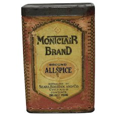 "Sears, Roebuck & Co. ""Montclair Brand"" Spice Container"
