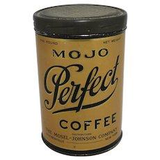 """1920's """"Mojo Perfect Coffee"""" 1 lb. Tin"""