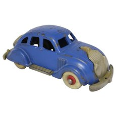"Hubley 1935 Larger 6 1/4"" Chrysler Airflow Sedan"