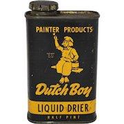 "Vintage ""Dutch Boy"" Liquid Drier Litho Tin"