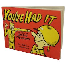 """1950's """"You've Had It"""" Basic Training Paper Booklet"""
