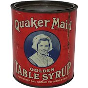 Quaker Maid Golden Table Syrup Tin