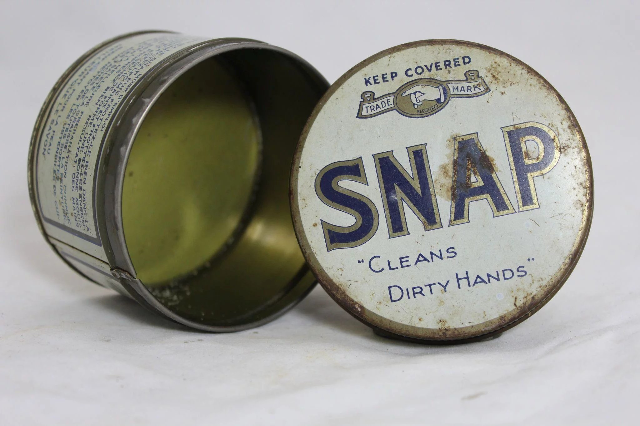 1950 S Quot Snap Quot Hand Cleaner Tin The Curious American