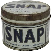 "1950's ""SNAP"" Hand Cleaner Tin"