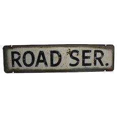 "Vintage Automotive ""Road Ser."" (Service) Metal Sign"