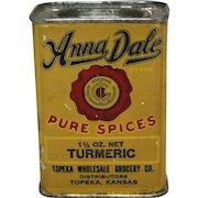 """Anna Dale"" Topeka, Kansas Turmeric Spice Tin"