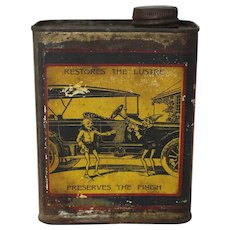 Vintage Whiz Auto Body Polish Can
