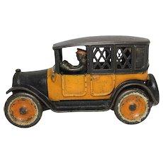 "1920's Arcade 8"" Yellow Cab Bank"