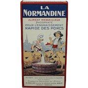 "Vintage (La) Normandine"" Phosphate Food for Pigs (Box)."