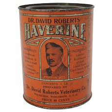 Vintage Dr. David Robert's Haverine Tin
