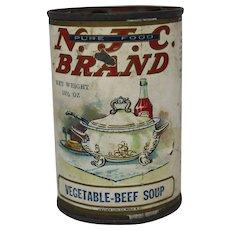 Vintage N.J.C. Brand Vegetable Soup Can