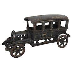 "1920's Hubley 6 3/4"" Cast Iron 10 Window Sedan"