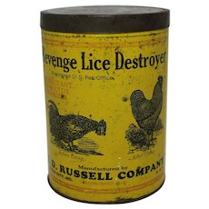 "Vintage Veterinary ""Revenge"" Lice Destroyer 3 lb. Tin"