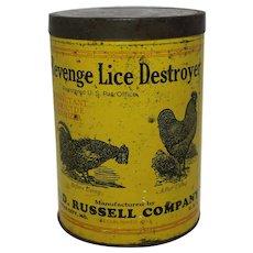 "Vintage Veterinary ""Revenge"" Lice Destroyer 3 lb. Tin"
