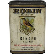 "Rare Vintage ""Robin Brand"" Ginger Spice Container"