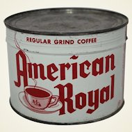 """Vintage Unopened """"American Royal"""" 1 lb. Coffee Can"""