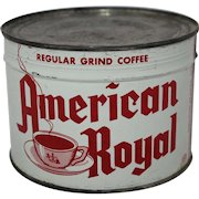 "Vintage Unopened ""American Royal"" 1 lb. Coffee Can"