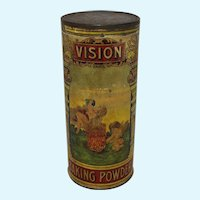 """Late 1800's """"Vision Baking Powder"""" Container"""