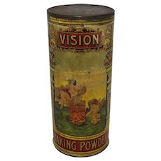 "Late 1800's ""Vision Baking Powder"" Container"