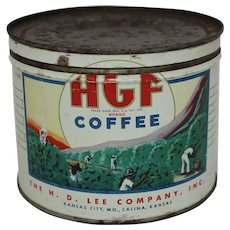 Vintage H.G.F. Key Wind Coffee Tin
