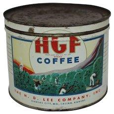 Vintage H.G.F. Key Wind Coffee Tin