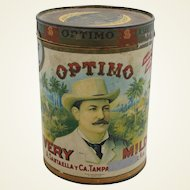 """Vintage """"Optimo"""" Cigar Container"""
