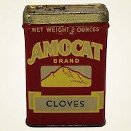 """Vintage """"Amocat"""" Tacoma, Wa. Cloves Spice Tin"""