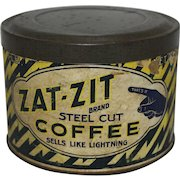 "Vintage ""Zat-Zit"" 1 lb. Coffee Can"