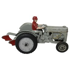"""1941 Cast Iron  8 1/2"""" Arcade Ford Tractor and Plow"""
