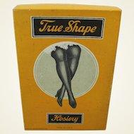 """1920's """"True Shape Hosiery"""" Cardboard Box"""
