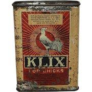 "Vintage Unopened ""Klix For Chicks"" Lice Remedy Tin"