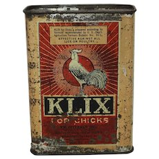 "Vintage Unopened ""Klix For Chicks"" Lice Remedy Tin"