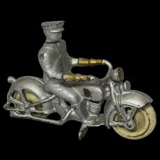 """1920's Kilgore 4 1/2"""" Cast Iron Motorcycle"""