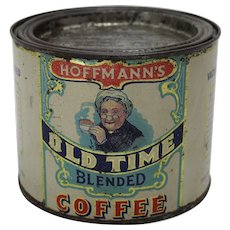 """Early 1900's """"Hoffmann's Old Time"""" Coffee Tin"""