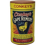 """Vintage Veterinary """"Conkey's"""" Gape Remedy Unopened Container"""